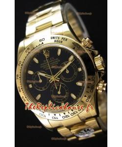 Rolex Cosmograph Daytona 116528 Or Jaune Mouvement Original Cal.4130- Montre Amélioré Ultime Acier 904L