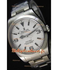 Rolex Explorer I 214270 Cadran Blanc - The Ultime Best Édition Montre Réplique Suisse