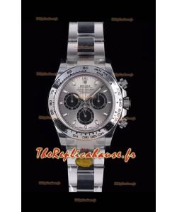 Rolex Daytona 116519 Or blanc Original Cal.4130 Mouvement - Montre en acier 904L à miroir 1:1