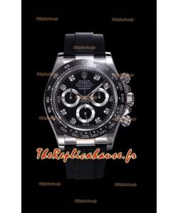 Rolex Daytona 116509 Or blanc Original Cal.4130 Mouvement - Montre en acier 904L à miroir 1:1
