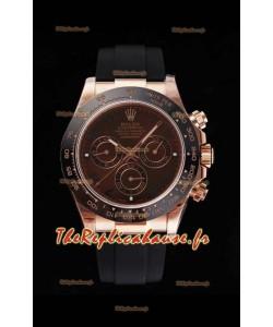 Montre Rolex Daytona 116515LN Everose Cerachrom Original Cal.4130 Mouvement - Miroir 1:1 904L en acier