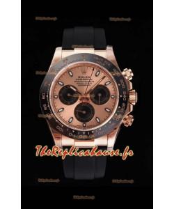 Rolex Daytona 116515LN Everose Gold Original Cal.4130 Mouvement - Montre en acier 904L à miroir 1:1