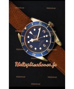 Montre Tudor Heritage Bronze Black Bay Blue Bucherer Suisse Édition Limitée Répliquée à l'identique 1:1
