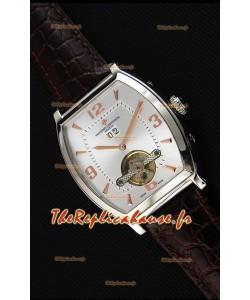 Montre Vacheron Constantin Malte Tourbillon Japonaise à Cadran Blanc acier Réplique