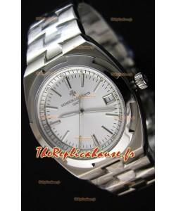 Montre Vacheron Constantin Overseas Cadran Blanc acier Répliquée à l'identique 1:1