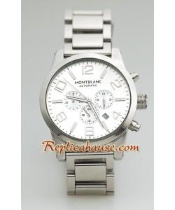Mont Blanc Replique Timewalker - Silver Dial