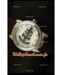 Montre japonaise Ulysse Nardin Dual Escapement avec cadran blanc