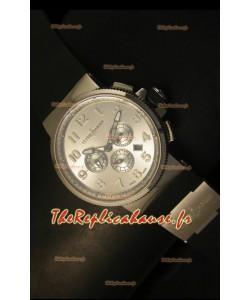 Chronographe Ulysse Nardin Marine avec cadran à chiffres arabes en acier inoyxdable - Réplique miroir 1:1