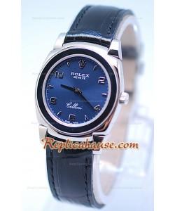 Rolex Cellini Cestello Femmes Swiss Montre Toute Bleue