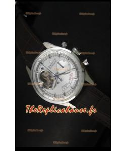 Réplique de montre Zenith El Primero Chronomaster 42mm de réserve de puissance et remontage manuel avec cadran argenté
